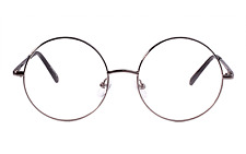 Retro Round Prescription Vintage ready Metal Eyeglasses Frame Clear Lens RX