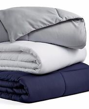 Blue Ridge Microfiber Color Down Alternative Twin Comforter Platinum Gray W1964