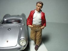 JAMES  DEAN  1/18  PAINTED  FIGURE   BY  VROOM  FOR  AUTOART  SPARK  1/18