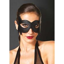 Máscaras y caretas negros de piel sintética para disfraces
