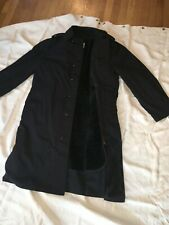 Black trench coat with liner