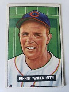 1951 Bowman Johnny Vander Meer #233 Vg-Ex Cleveland Indians