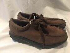 MBT SWISS NAFASI BROWN LEATHER ORTHOTIC Walking Rocker Shoes 6.5