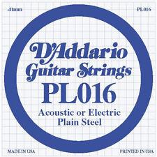 D'Addario PL016 Plain Steel .016 Gauge Guitar String