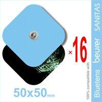 Pack 16 electrodos 50x50mm para VITALCONTROL, SANITAS, Beurer, BLUETENS