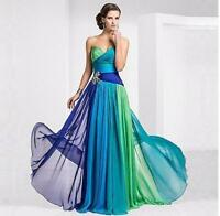 Women Long Chiffon Bridesmaid Off Shoulder Prom Formal Gown Evening Ball Dresses