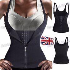 New Underbust Corset Waist Trainer Sauna Sweat Body Shaper Vest Top With Zip