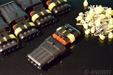 5 Paar Stecker + Buchsen, 4-polig Wassergeschützt mit Silikondichtung KFZ LPG