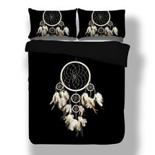 Dream Catcher Duvet Quilt Cover Indian Black Bedding Set Pillowcases Double King