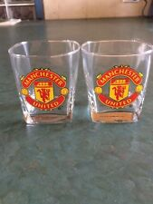 Pair of Manchester United Whiskey Glasses