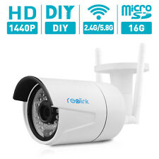 Reolink wireless IP camera 4MP P2P Built-in 16GB Micro sd Onvif CCTV RLC-410ws