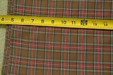 """By 1/2 Yd, 44"""" Wide, Vintage Brown Plaid Shirting by Jonathon Logan, M2268"""