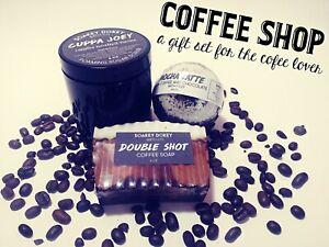 Coffee Spa Gift Set Coffee Lovers Gift Set Coffee Bath Gift Box Bath Bombs