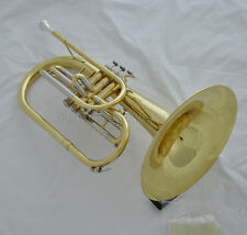 "Professional F key Gold Marching Mellophone Horn with mouthpiece case 10.4"" bell"