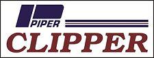 Piper Clipper Airplane banner hangar garage decor Aircraft signs