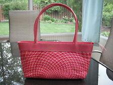 "Bahay Bags of Honolulu ""Gigi"" Handbag Handwoven Buntal w/Leather Trim Ret. $105."