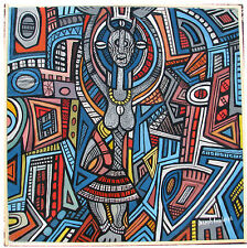 Joseph AMEDOKPO African as Lilanga Tingatinga The KING of SPIRITS OLIO tela70x70