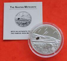 NANTAN METEORITE 2006 PALAU 5 Silver Coin + Coa
