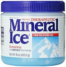 2 Pack - Mineral Ice Topical Analgesic Pain Reliving Gel 16Oz Each