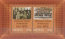 """Litauen / Lieuva Nr. Bl. 16** (702-703**) Theaterstück """"Amerika im Bade"""""""