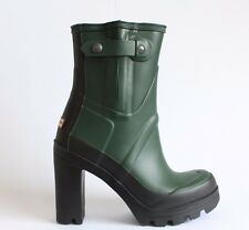 HUNTER ORIGINAL ANKLE WELLINGTONS Stylish Green All Year Wear Festival Boot UK 4