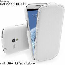 Samsung S3 Mini Galaxy i8190 hochwertig Tasche Hülle Case Schutz Cover weiss