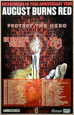 AUGUST BURNS RED | PROTEST THE HERO 2017 Ltd Ed RARE New Messengers Tour Poster!