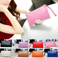 New Women PU Shoulder Bag Crossbody Wallet Satchel Handbag Purse Solid