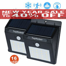 2x 16 LED Solar Power PIR Motion Sensor Wall Lights Outdoor Garden Security Lamp