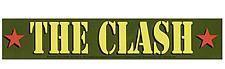 The Clash Army Logo vinyl sticker 200mm x 40mm (cv)