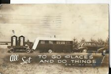1938 ll.cook co milwaukee wisconsin early trailer theme postcard