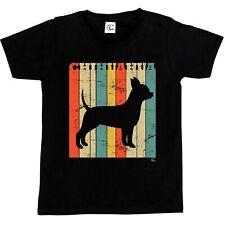 1Tee Niños Niñas Raza Perro Chiuahua-Colorido Retro T-Shirt