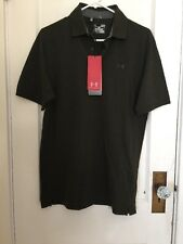 UNDER ARMOUR Heat Gear Golf  Polo Shirt Men's Small  Loose Fit Dk Green NWT
