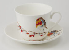 Roy Kirkham Robin 450ml Large Cup & Saucer Bone China Gift Tea Coffee Chocolate