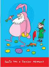 Christmas Holiday Cards Clayboys Santa has a Senior Moment