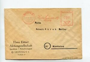 SBZ Brief Absenderfreistempel Leipzig 14.6.48 Hans Eitner AG Spedition