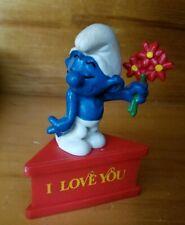 Vintage Smurfs Schleich I Love You PVC Figure Figurine PEYO