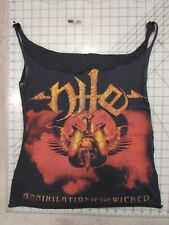 Cut-Up/Altered NILE 2006 Tour T-SHIRT Ladies MED Tank Top 2-Sided Cities Dates M