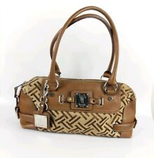 Tignanello Tan Leather & Fabric Handbag 40cm X 21cm