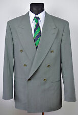 HUGO BOSS Double Breasted SEA GREEN Colour Vintage Blazer UK 40L Jacket 98 50L