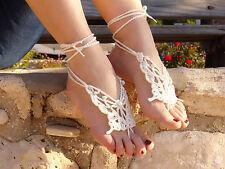 Beach Wedding Barefoot Sandals Crochet for Bride Big Butterfly Shape Summer