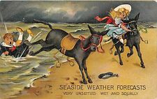 POSTCARD  COMIC   SEASIDE  WEATHER  FORECASTS   Very  Unsettled Wet & Squally