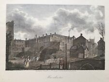 1854 Antique Print; Manchester after Thomas Girtin
