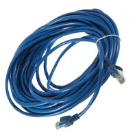 Lot 50FT RJ45 CAT5 CAT5E Ethernet Network Lan Router Patch Cable Cord Blue 15M S