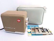 Vintage MINOLTA Mini Portable Film Projector 35mm w/ Carrying Bag 1950s Japan