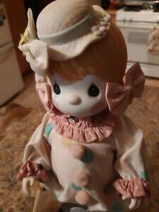 """Precious Moments Porcelain Bisque Doll 100463, """"Candy"""" The Clown 1985"""