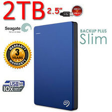 "New 2TB SEAGATE Backup Plus SLIM 2.5"" USB3.0 External Portable Hard Disk Drive"