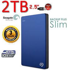 "New 2TB SEAGATE Backup Plus SLIM 2.5"" USB3.0 External Portable Hard Disk Drive"