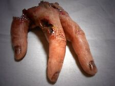 HORROR PROPS Silicone Butchered Hand Halloween Body Parts FREAK Show movie fx