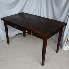 Antique Country Store wood Table with drawer in side